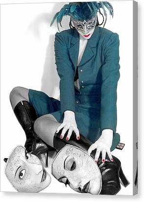 Masquerading Selves - Self Portrait Canvas Print by Jaeda DeWalt