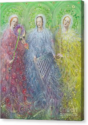 Mass For Three Voices Canvas Print by Annael Anelia Pavlova