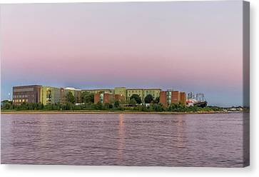 Massachusetts Maritime Academy At Sunset Canvas Print by Brian MacLean