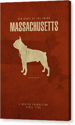 Massachusetts Canvas Print - Massachusetts State Facts Minimalist Movie Poster Art by Design Turnpike