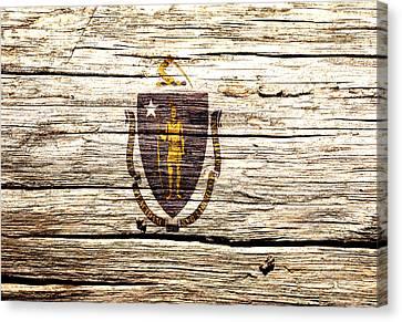 Massachusetts State Flag 3w Canvas Print