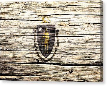 Massachusetts State Flag 4w Canvas Print