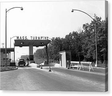 Massachusetts Turnpike Canvas Print by Underwood Archives
