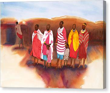 Massai Mommas Canvas Print by Tara Moorman