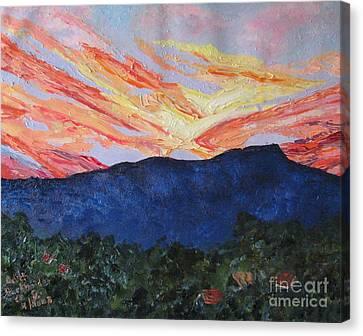 Massanutten Peak Sunrise Canvas Print by Judith Espinoza
