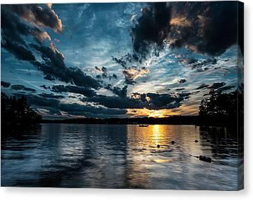 Masscupic Lake Sunset Canvas Print