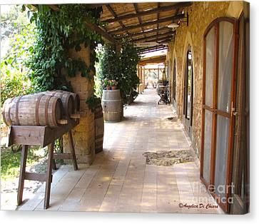 Masseria - Farm In Apulia Canvas Print by Italian Art