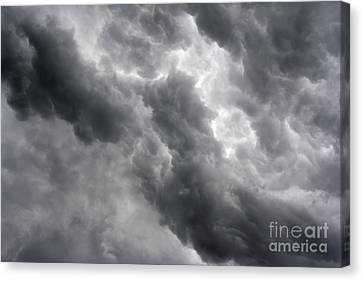 Masses Of Dark Clouds Canvas Print by Michal Boubin