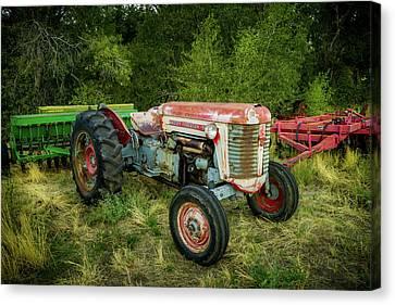 Massey Ferguson 50 Tractor And Farming Equipment Canvas Print