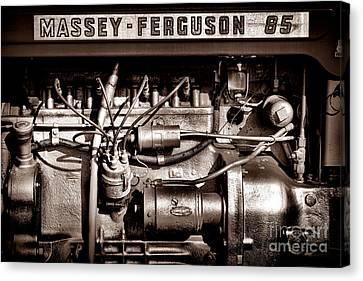 Antique Tractors Canvas Print - Massey Ferguson 85 by Olivier Le Queinec