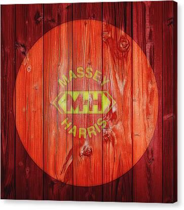 Massey Harris Barn Door Canvas Print