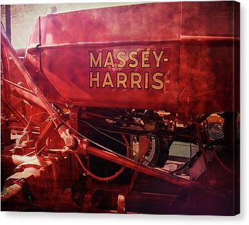 Massey Harris Vintage Tractor Canvas Print by Ann Powell