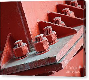 Canvas Print featuring the photograph Massive Bolts And Nuts by Yali Shi