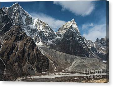 Canvas Print featuring the photograph Massive Tabuche Peak Nepal by Mike Reid