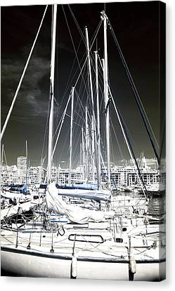 Mast Angles Canvas Print by John Rizzuto