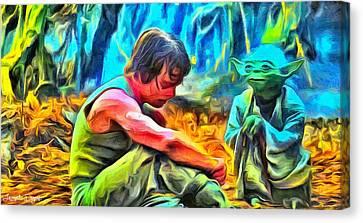 Master And Apprentice - Da Canvas Print