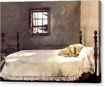 Canvas Print featuring the painting Master Bedroom  by Andrew Wyeth