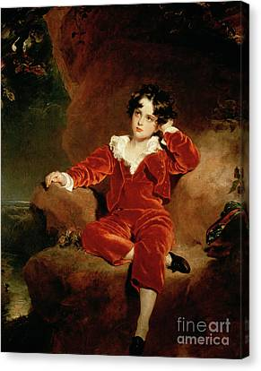 Master Charles William Lambton Canvas Print by Sir Thomas Lawrence