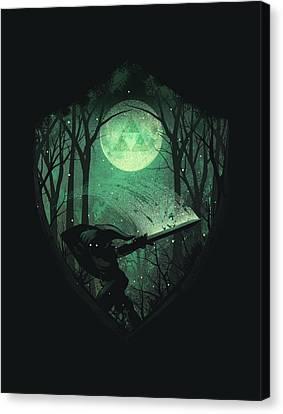 Master Sword Canvas Print by Dan Elijah Fajardo