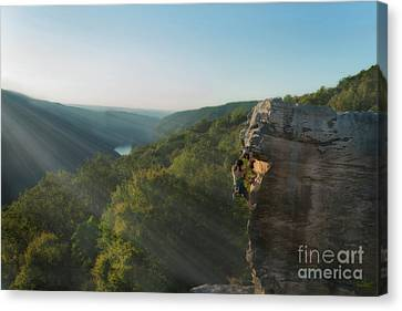 Mastering The Rock Canvas Print by Dan Friend