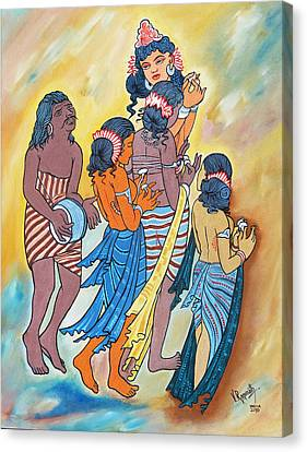 Canvas Print featuring the painting Masterpiece In Art by Ragunath Venkatraman
