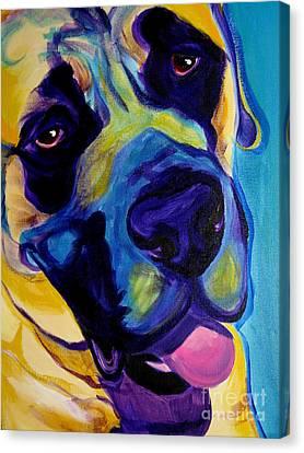Mastiff - Lazy Sunday Canvas Print by Alicia VanNoy Call