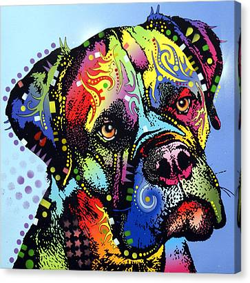 Mastiff Warrior Canvas Print by Dean Russo