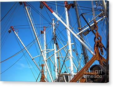 Canvas Print featuring the photograph Masts At Barnegat Bay by John Rizzuto
