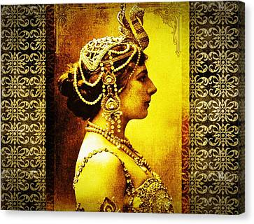 Mata Hari Canvas Print by Mary Morawska