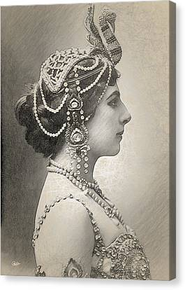 Mata Hari Portrait Canvas Print by Joaquin Abella
