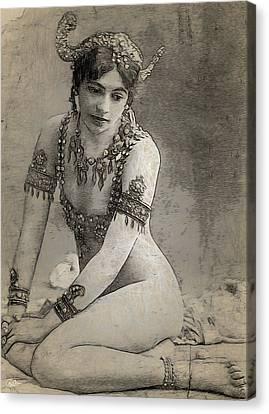 Mata Hari Sketch Canvas Print by Joaquin Abella