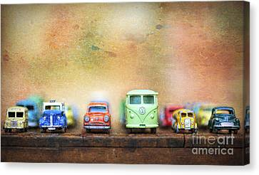 Old American Truck Canvas Print - Matchbox Toys by Tim Gainey