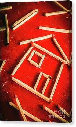 Matchstick Houses Canvas Print