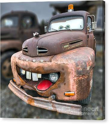 Old Fords Canvas Print - Mater From Cars 2 Ford Truck by Dustin K Ryan