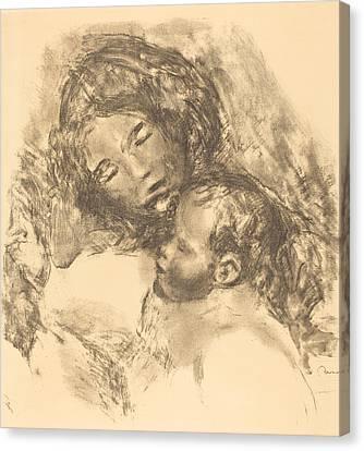 Maternity -maternite Canvas Print by Auguste Renoir
