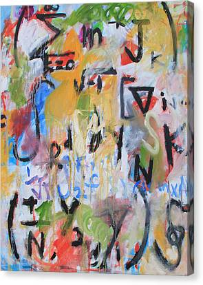 Abstract Expressionist Canvas Print - Math IIi by Michael Henderson