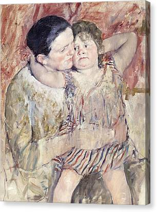 Mathilde Holding A Child Canvas Print