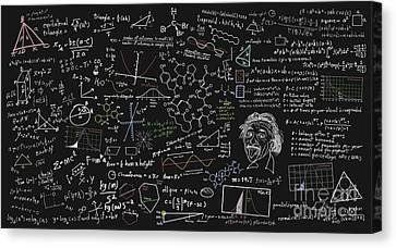 Maths Formula Canvas Print by Setsiri Silapasuwanchai