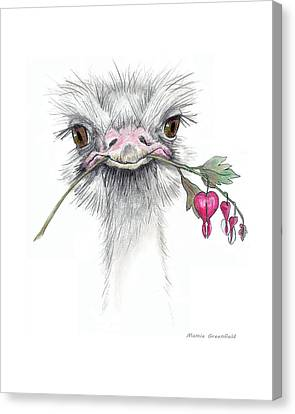 Matilda The Ostrich Canvas Print