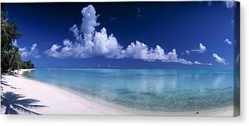Matira Beach Bora Bora Polynesia Canvas Print