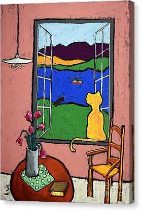 Matisse's Cat Canvas Print by David Hinds
