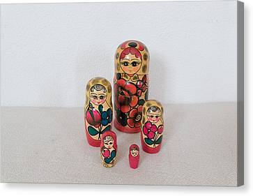 Matrioshka Dolls. Canvas Print by Benny Blitzblau
