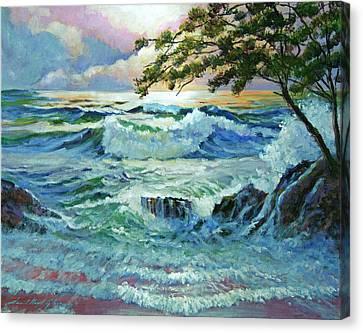 Matsushima Coast Canvas Print by David Lloyd Glover
