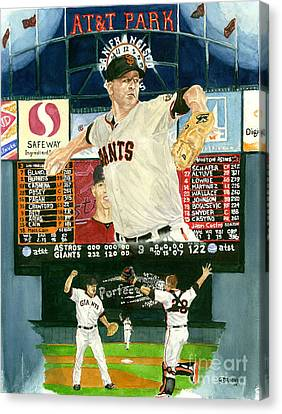 Matt Cain Perfect Night Canvas Print by George  Brooks