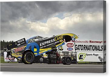 Drag Racing Canvas Print - Matt Hagan Top Fuel by Peter Chilelli