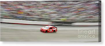 Matt Kenseth In Car 20 Home Depot's Husky Tools Toyota Camry At Nascar Sprint Cup Food City 500 Canvas Print