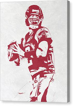 Sports Canvas Print - Matt Ryan Atlanta Falcons Pixel Art by Joe Hamilton