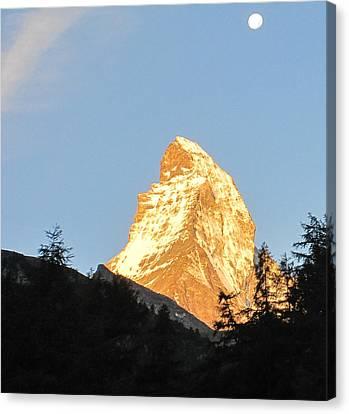 Canvas Print - Matterhorn Alpenglow by Karina Taugwalder