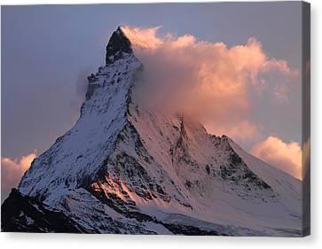Matterhorn At Dusk Canvas Print by Jetson Nguyen