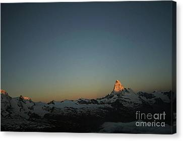 Matterhorn At Sunrise Canvas Print by Christine Amstutz